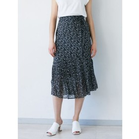 【ラグナムーン/LAGUNAMOON】 フラワープリントプリーツスカート