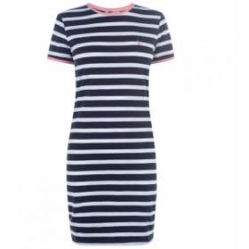 ジャック ウィルス Jack Wills レディース ワンピース ワンピース・ドレス Harlech Striped Dress Navy