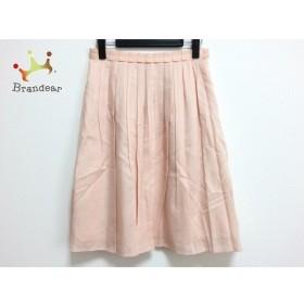 アナイ ANAYI スカート サイズ38 M レディース 美品 サーモンピンク プリーツ 新着 20190720