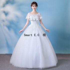 新作★ ウェディングドレス 流れるドレープが美しいプリンセスラインドレス 結婚式や二次会 花嫁ドレス 海外挙式におすすめ hs14