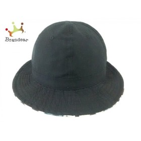 サタデーズ サーフ ニューヨーク 帽子 美品 黒×マルチ リバーシブル コットン 新着 20190721