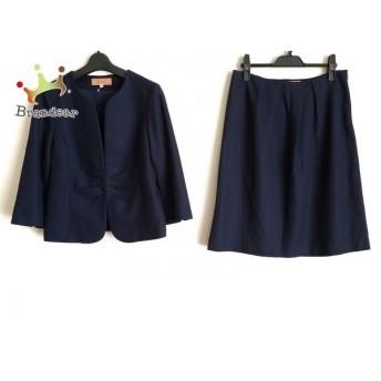 スーナウーナ SunaUna スカートスーツ サイズ40 M レディース ネイビー 新着 20190721