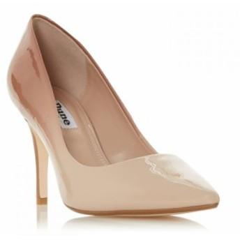 デューン Dune レディース パンプス シューズ・靴 Ammbre Ombre Patent Mid Heel Court Shoes Nude
