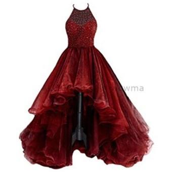 サイズオーダー可 ウェディングドレス A ライン 肩ノースリーブハイスリットウェディングドレスブライダルドレス
