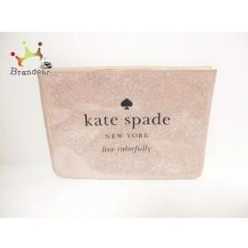 ケイトスペード Kate spade ポーチ 美品 WLRU2020 ベージュ グリッター PVC(塩化ビニール)   スペシャル特価 20191018