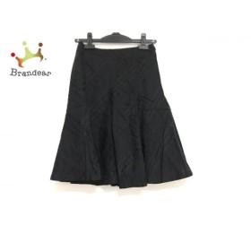 バーバリーブルーレーベル スカート サイズ36 S レディース 美品 黒 チェック柄  値下げ 20191009