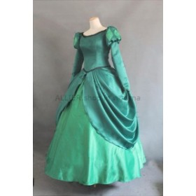 ドレス プリンセスアリエルリトルマーメイドコスチュームグリーンボールガウンコスプレカスタムメイド