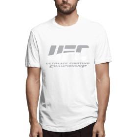UFC 格闘 総合格闘技 王者 Tシャツ 半袖 サラリーマン プリント 通学 丸首 暑い夏 S~6XL 通気性 ファション Man