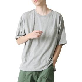 [ジップファイブ] ZIP FIVE Tシャツ 吸水 速乾 TC 天竺 ビッグシルエット メンズ 661922br 3杢GREY M