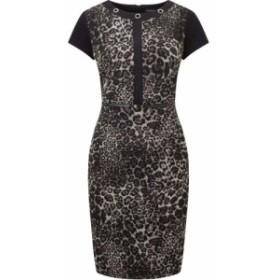 ジュームズ レイクランド James Lakeland レディース ワンピース ワンピース・ドレス Leopard Print Dress Black