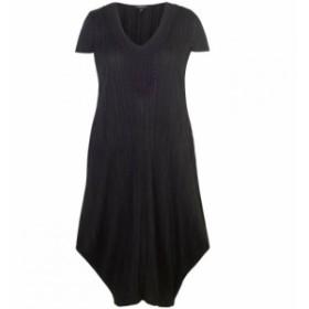 チェスカ Chesca レディース ワンピース ワンピース・ドレス Lace Trim Crush Pleat Drape Dress Black