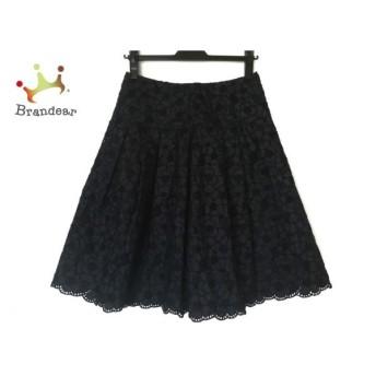 トゥービーシック TO BE CHIC スカート サイズ40 M レディース ダークネイビー 刺繍/花柄 新着 20190721