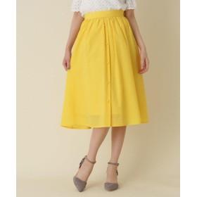 Couture Brooch(クチュールブローチ) 【WEB限定サイズ(S・LL)あり】フロントボタンミディ丈スカート