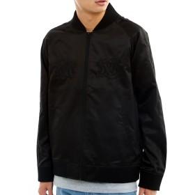 インプローブス スカジャン 刺繍スカジャン 虎 トラ シンプル 単色 メンズ ブラック S サイズ