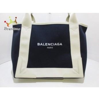 バレンシアガ BALENCIAGA トートバッグ ネイビーカバS 339933 ダークネイビー×アイボリー 値下げ 20190807