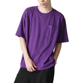 [ジップファイブ] ZIP FIVE Tシャツ 吸水 速乾 TC 天竺 ビッグシルエット メンズ 661922br 7PURPLE S