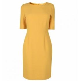 ヒューゴ ボス Boss レディース ワンピース ワンピース・ドレス Short Sleeved Form Dress MED YELLOW