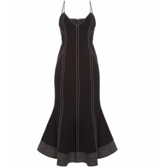 カメオ コレクティブ CMEO レディース ワンピース ワンピース・ドレス Fitted midi dress with piping and flare hem Black