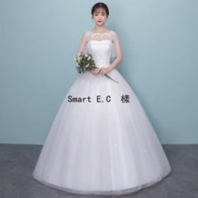 新作★ ウェディングドレス 流れるドレープが美しいプリンセスラインドレス 結婚式や二次会 花嫁ドレス 海外挙式におすすめ hs11