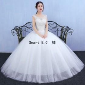 新作★ウェディングドレス 流れるドレープが美しいプリンセスラインドレス 結婚式や二次会 花嫁ドレス 海外挙式におすすめ hs9