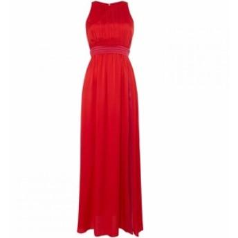 リトル ミストレス Little Mistress レディース ワンピース ワンピース・ドレス Pleated high neck maxi Red