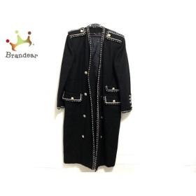 イタリヤ 伊太利屋/GKITALIYA コート レディース 黒×アイボリー 冬物 新着 20190721