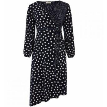 オアシス Oasis レディース ワンピース ワンピース・ドレス Curve Patch Spot Midi Dress Blue Multi