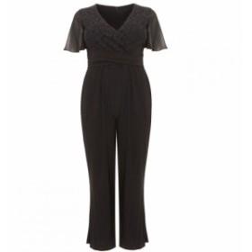 スタジオ8 Studio 8 レディース オールインワン ワンピース・ドレス Salma Lace Wrap Jumpsuit Black