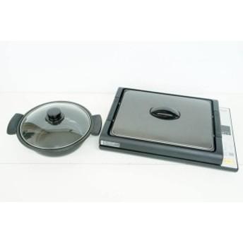 【中古】Panasonicパナソニック IH調理器 KZ-HP2000-K ブラック IHホットプレート 平面プレート・なべ付
