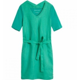 サンドイッチ Sandwich レディース ワンピース ワンピース・ドレス Tie Belt Linen Dress Green