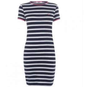 ジャック ウィルス Jack Wills レディース ワンピース ワンピース・ドレス Harlech T Shirt Dress Navy Stripe