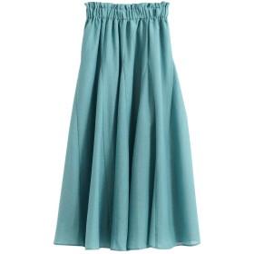 (ペルルペッシュ) Perle Peche スパンボイルボリュームマキシスカート 36 グリーン