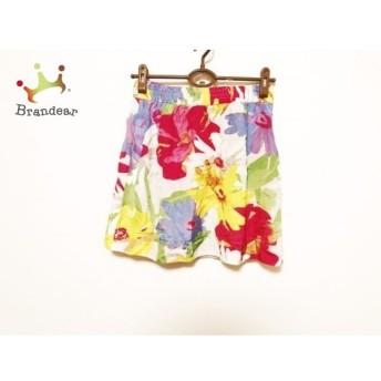 シーバイクロエ スカート サイズ38 M レディース 美品 アイボリー×ピンク×マルチ 花柄 新着 20190721