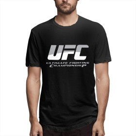 UFC 格闘 総合格闘技 王者 Tシャツ 半袖 若者 プリント アルバイト 丸首 春夏秋 S~6XL ゆったり おしゃれ メンズ