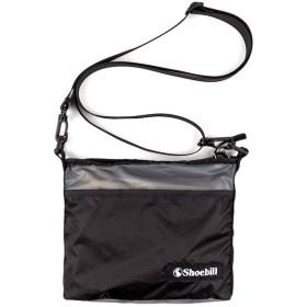 Shoebill サコッシュ バッグ ショルダーバッグ ナイロン 防水 登山 アウトドア 軽量 (ブラックグレー)