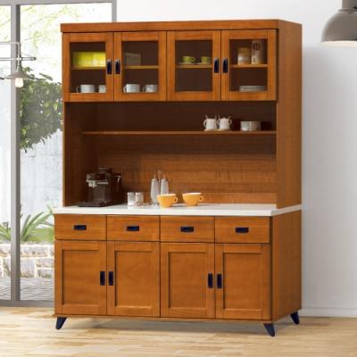 AS-愛麗絲樟木色5.3尺石面餐櫃全組-161x40x202cm