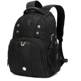 SWISSWIN リュックサック メンズ ビジネスバッグ 大容量 通勤 通学 2色 SW9002 (ブラック)