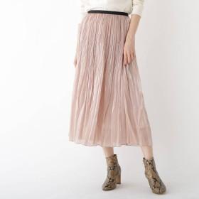 ドレステリア DRESSTERIOR 分繊サテンワッシャープリーツスカート (ベビーピンク)