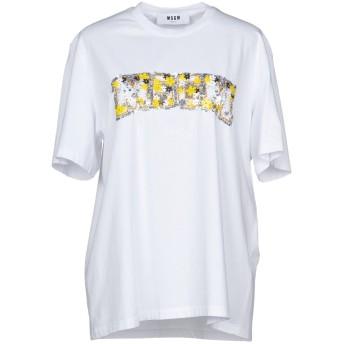 《セール開催中》MSGM レディース T シャツ ホワイト L コットン 100%