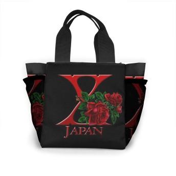 バラ X Japan トートバッグ ミニトート ランチバッグ 男女兼用 お弁当袋 ミニバッグバッグ ミニ鞄 ミニママバッグ 多機能大容量 軽量 通勤 ビジネス 通学 学生 就活 旅行 ジム 普段使い プレゼント