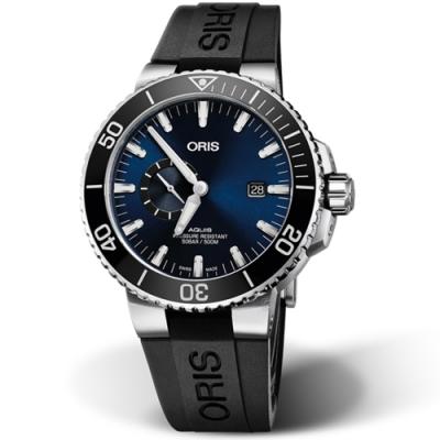 Oris豪利時AQUIS小秒盤潛水機械錶(0174377334135-0742464EB)