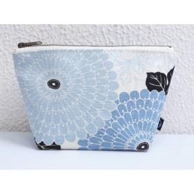 [和さくら庵] 和柄ファスナーポーチ(コスメ・小物入れ)大輪菊 日本製