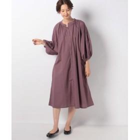(Samansa Mos2/サマンサ モスモス)袖刺繍前あきワンピース/レディース ピンク