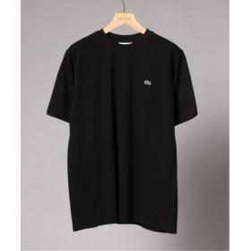(EDIFICE/エディフィス)LACOSTE/ラコステ ロゴカノコ クルーネック Tシャツ/メンズ ブラック