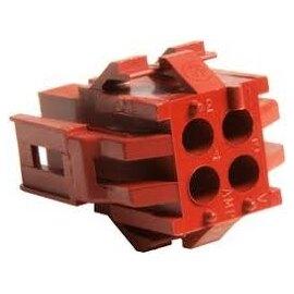 1-640519-0 4P HOUSING TE / Tyco AMP_ MR II 棕色(豬肝色)連接器【ROHS】--含稅【佑齊企業 iCmore】