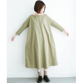 (haco!/ハコ)これさえあれば着替え迷子にならないゆったりワンピース/レディース グリーン