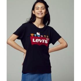 Levi's 【Levi's×Hello Kitty】バットウイングプリントTシャツ レディース ブラック