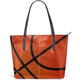 バスケットボールレザートートバッグ財布ショルダーバッグポータブル収納ハンドバッグ便利なショッパートートバッグ