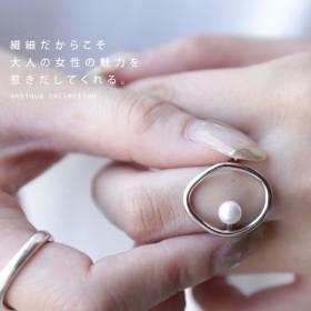 アクセサリー アクセ リング 指輪 パール レディース パールデザインリング・7月24日20時〜発売。(10)メール便可