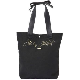 【公式/JILL by JILLSTUART】レオパードシリーズ(無地)トートバッグ/女性/キャンバスバッグ/ブラック/サイズ:FR/
